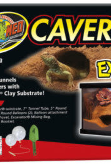 """Zoomed Ensemble de caverne """"Excavator"""" - Cavern Kit with Excavator® Clay Burrowing Substrate"""