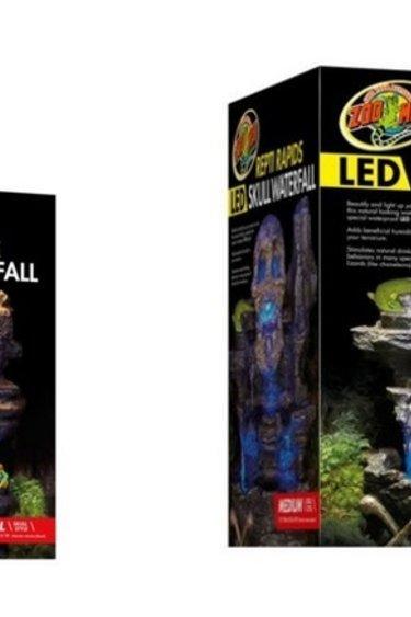 "Zoomed Cascade LED ""Repti Rapids"" Crâne- Repti Rapids® LED Waterfall – Skull"