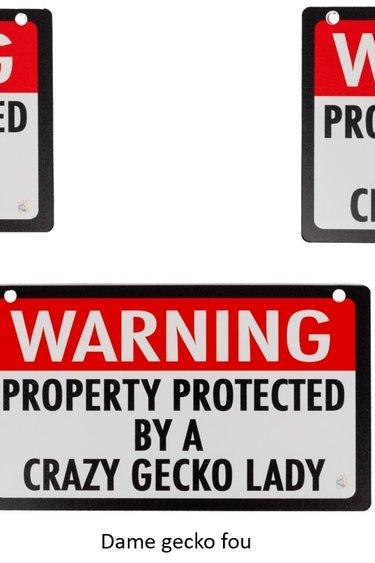 C3 Ledges Panneau Avertissement Propriété protégée par ... - Warning Property Protected by