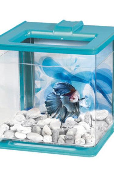 Marina Aquarium équipé EZ Care Marina pour betta, bleu, 2,5 L (0,7 gal US)