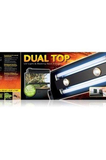 Exoterra Couvercle avec éclairage à deux tubes – DualTop