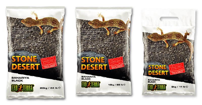 Exoterra Désert de pierres sable- oasis de Bahariya noir