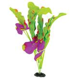 Marina Plante à feuilles gaufrées Naturals Marina en soie, indigo et vert, grande, 33-35,5 cm (13-14 po)