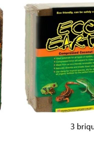 """Zoomed Substrat de noix de coco """"Eco Earth"""" brique - Coconut substrate"""