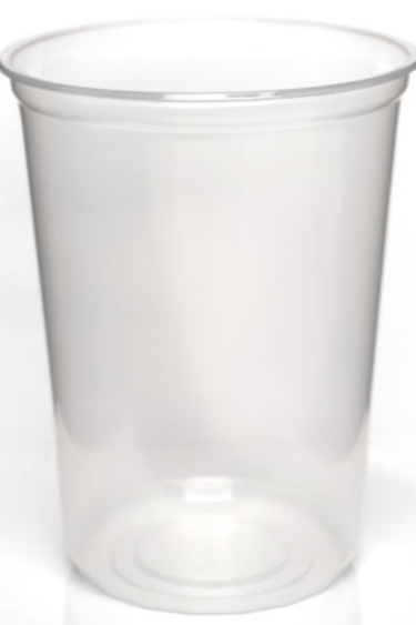 "Magazoo Pot 32 oz légèrement opaque Pot1/ Slightly Opaque 4.5"" non-punched Deli Cup, 32 oz."