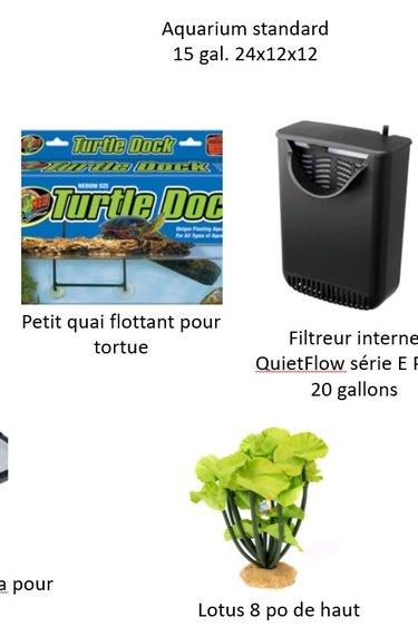 Magazoo Ensemble pour bébé tortue aquatique (15 gallon)