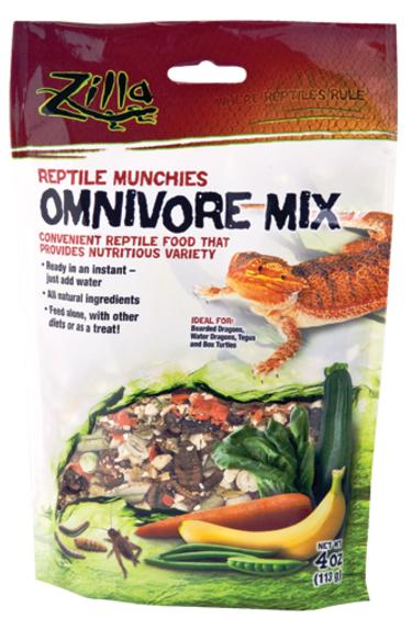 Zilla Reptile Munchies - Omnivore Mix - 4 oz