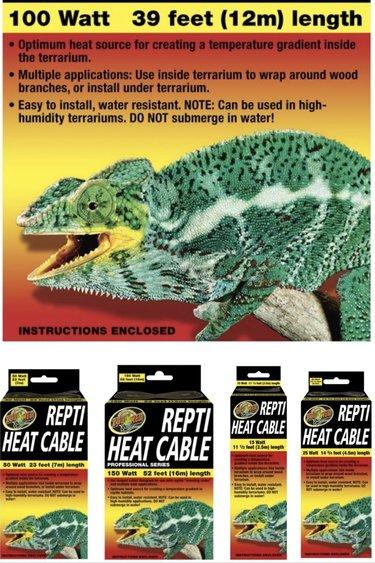 Zoomed Câble chauffant – Repti Heat Cable