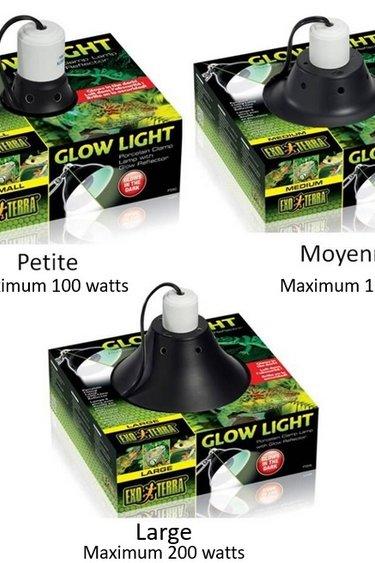Exoterra Lampe à pince – Glow light