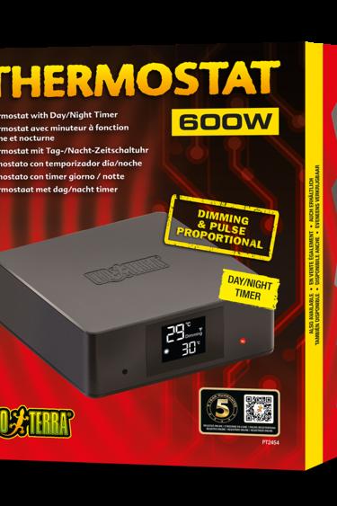 Exoterra Thermostat avec minuteur à fonction diurne et nocturne 600w