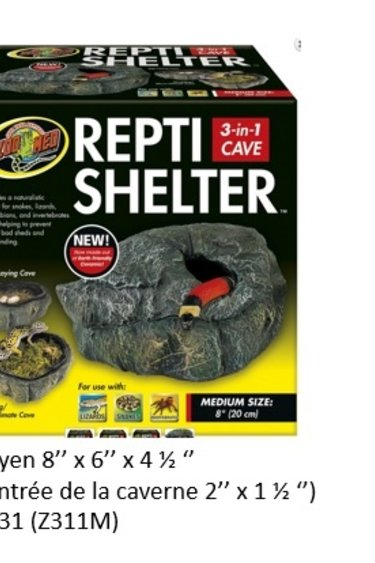Zoomed Caverne Repti Shelter - Repti Shelter™ 3-in-1 Cave