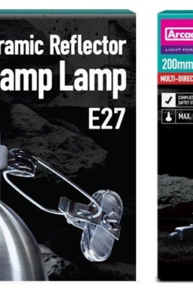 Arcadia Lampe en céramique à pince avec réflecteur - Ceramic dome reflector clamp lamp