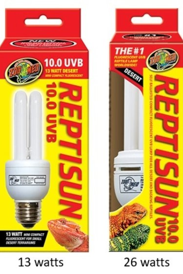 """Zoomed Compact fluorescent """"Reptisun"""" 10.0 UVB"""