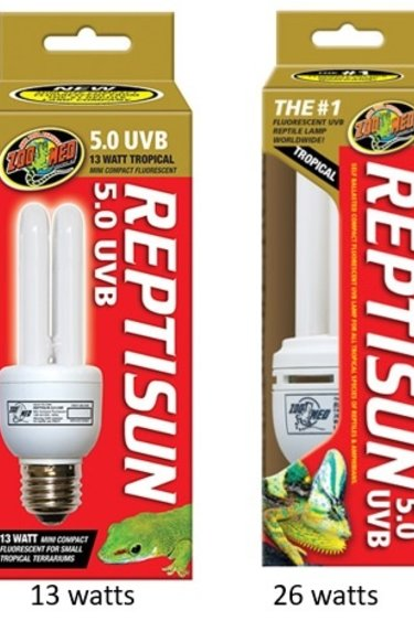 """Zoomed Compact fluorescent """"Reptisun"""" 5.0 UVB - ReptiSun® 5.0 Compact Fluorescent"""