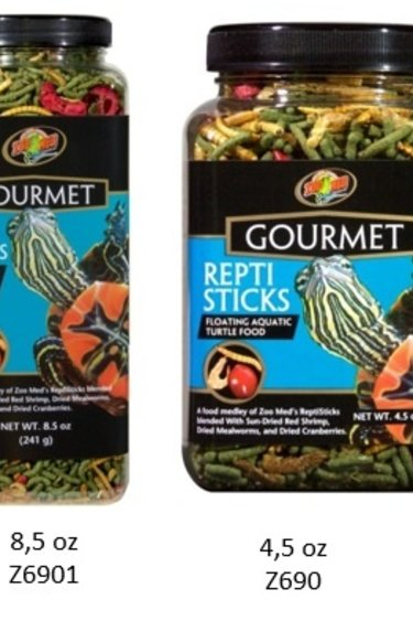 "Zoomed Nourr. ""Gourmet ReptiSticks"" pour tortue aquatique"
