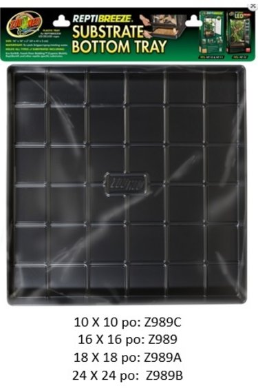 """Zoomed Plateau de fond """"Reptibreeze"""" - Substrate Bottom Tray"""