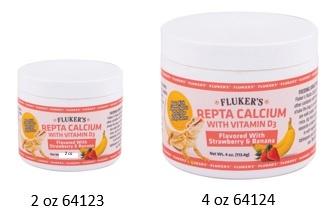 Fluker's ReptaCalcium avec Vitamin D3 - Fraise et banane