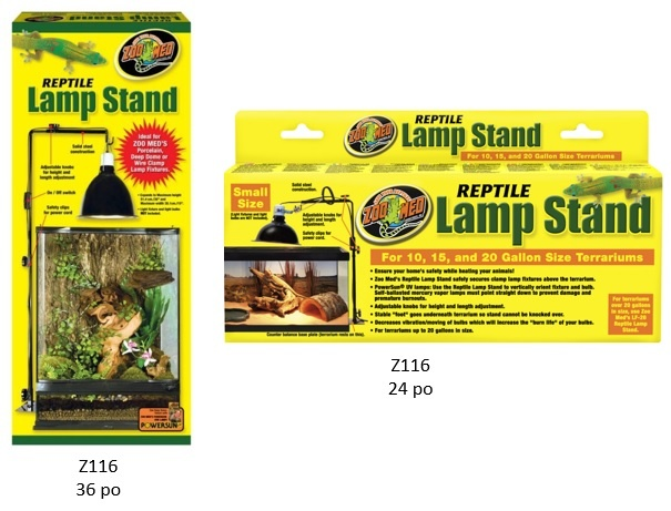 Zoomed Support pour lampe - Reptile Lamp Stand