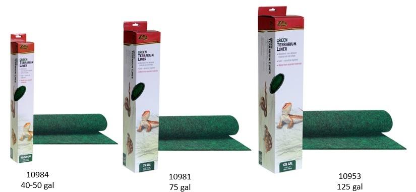 Zilla Tapis de terrarium vert - Terrarium Liner -  -Green