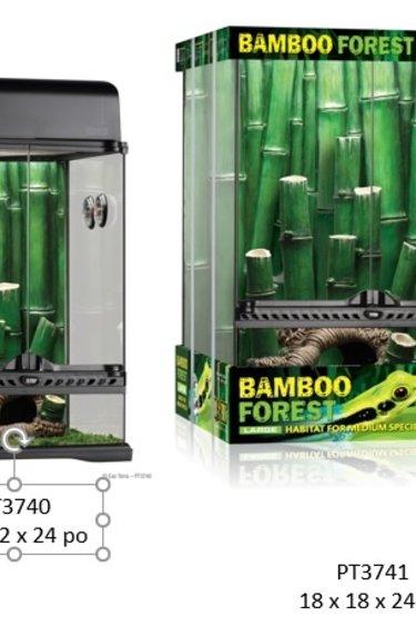 Exoterra Terrarium équipé forêt de bambou