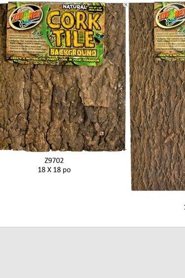 Zoomed Tuile d'arrière-plan écorce - Tile Background Cork