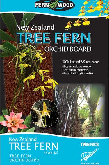 Fern Wood Planche d'orchidée en bois de fougère, pq de deux - Fern Wood Orchid Board, Twin Pack
