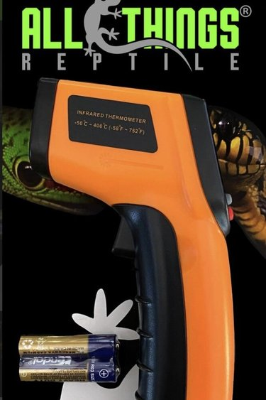 All things reptile Thermomètre digital infrarouge  sans contact - Infrared (IR)Digital Temperature Gun Thermometer