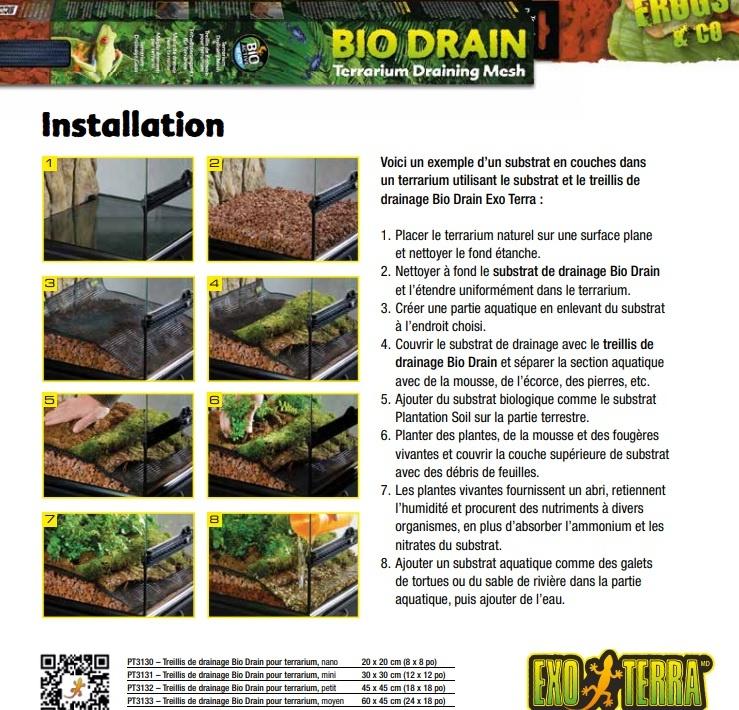Exoterra Treillis de drainage - BioDrain