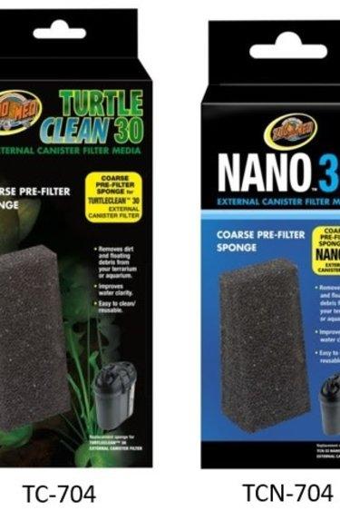 Zoomed Éponge de pré-filtrage - Turtle Clean™ 30 Coarse Pre-Filter Sponge