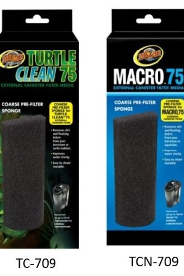 Zoomed Éponge pour préfiltre grossier -  Turtle Clean™ 75 Coarse Pre-Filter Sponge
