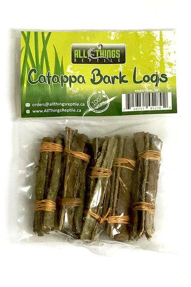 All things reptile Bûches d'écorce de catappa (amande indienne) 8cm pq de 8 - Catappa (Indian Almond) Bark Logs 8cm 8-pack