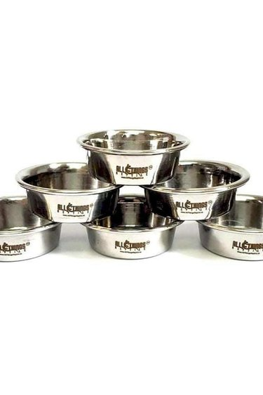 All things reptile Gobelets/plats en acier inoxydable (0,5 oz) - 1 pièce - Stainless Steel Feeding Cups/Dishes (0.5oz)