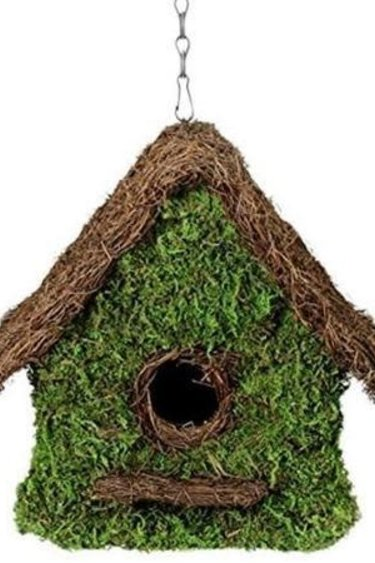 Galapagos Maison Woven Reptile Hide / Bird House 11 x 12in with Installation Chain
