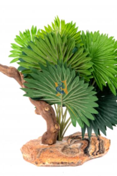 Pet-Tekk Mini feuille de palmier avec branche - Mini Fan Palm with Climbing Branch
