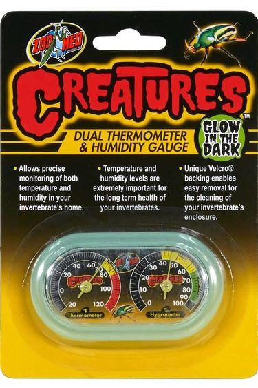 Zoomed Thermomètre et hydromètre qui brille dans le noir -  Série Creatures