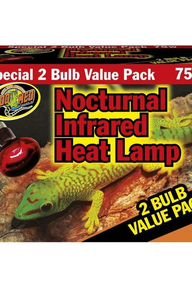 Zoomed Ampoule chauffante de nuit infrarouge 75 watts pt de 2 – Nocturnal Infrared Heat Lamp