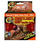 Zoomed Ampoule rouge de nuit 60 watts pq de 2 – Nighlight Red Bulb