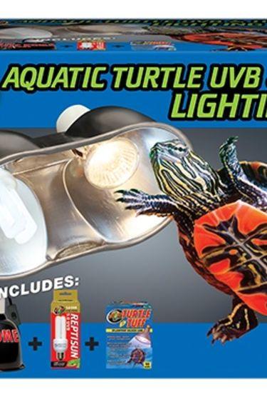 Zoomed Ensemble d'eclairage UVB et chaleur pour tortue aquatique