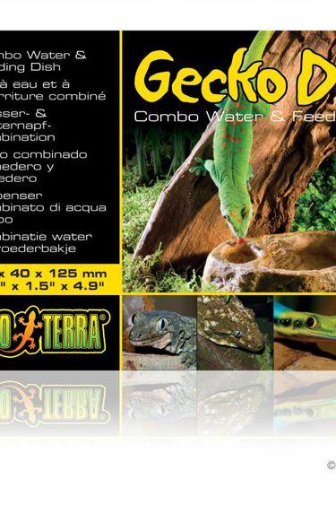 "Exoterra Bol eau et nourriture pour gecko 3.5 X 1.5 X 4.9 """