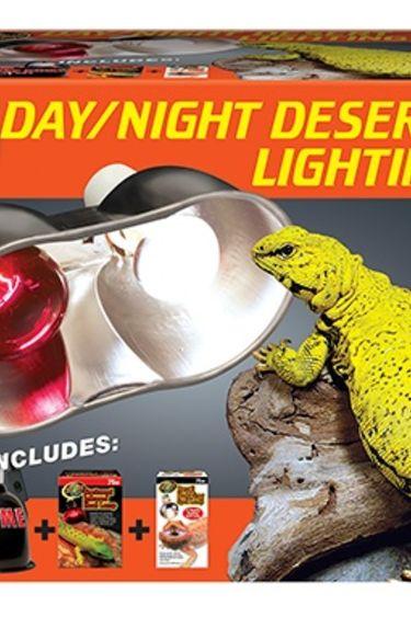 Zoomed Ensemble d'eclairage jour et nuit desert