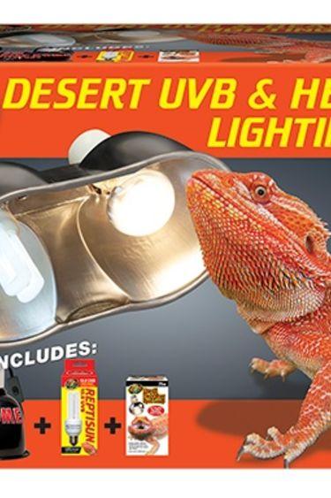 Zoomed Ensemble d'éclairage UVB et chaleur désert - Desert UVB & Heat Lighting Kit