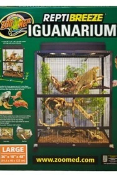 "Zoomed Iguanarium ""Reptibreeze"" 36""x18""x48"" - ReptiBreeze® IguanArium®"