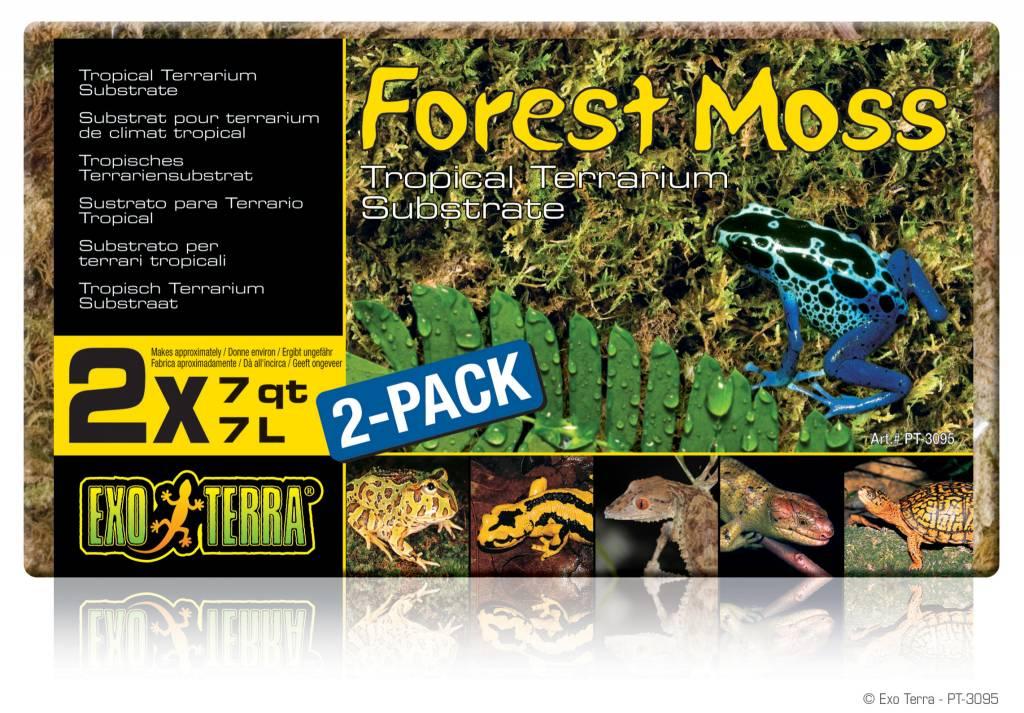 Exoterra Mousse de forêt Forest Moss Exo Terra, 2 x 7 L (2 x 7 pte)