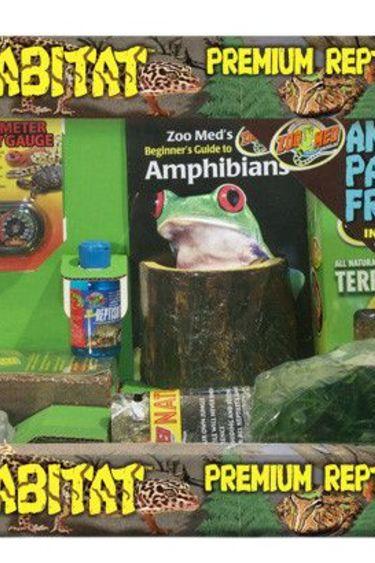 "Zoomed Ensemble ReptiHabitat pour grenouille Pac Man 20X10X12"""