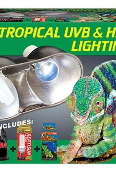 Zoomed Ensemble d'eclairage UVB et chaleur tropicale