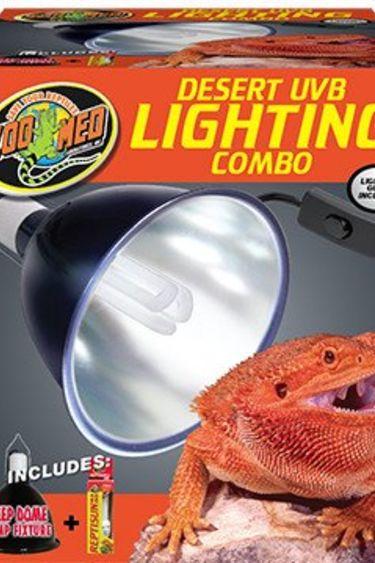 Zoomed Combo d'éclairage désert UVB / Desert UVB Lighting Combo Pack