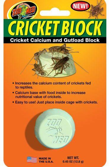 Zoomed Bloc de nourriture à criquet - Cricket calcium and gutload block