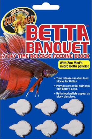 Zoomed Bloc d'alimentation Betta 7 jours - Betta Banquet® 7 Day Release Feeding Block