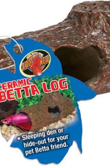 Zoomed Bûche en céramique pour betta - Betta Ceramic Log™