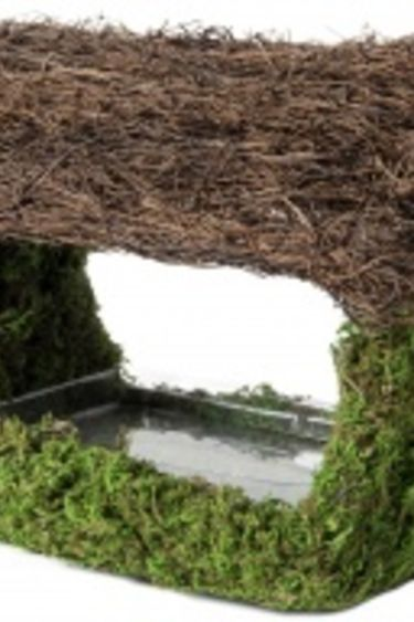 Galapagos Mangeoire ou cachette  en porche ouvert 12'' x 9''